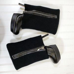 ZigiSoho Black Faux Leather Platform Sweat…